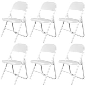 chaises pliantes blanches achat vente chaises pliantes blanches pas cher cdiscount. Black Bedroom Furniture Sets. Home Design Ideas