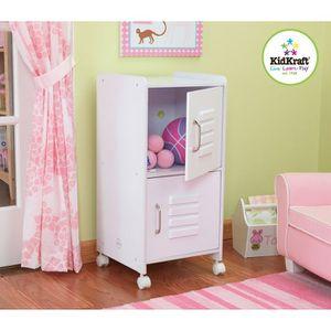 Casier blanc 2 compartiments en bois achat vente petit for Petit casier de rangement en bois