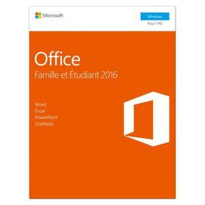 LOGICIEL BUREAUTIQUE  Microsoft Office Famille et Etudiant