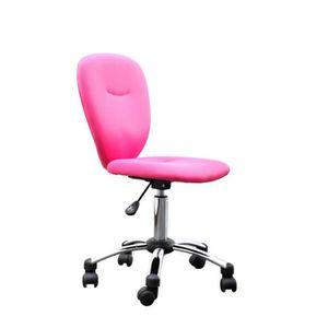 CHAISE DE BUREAU Miliboo - Chaise de bureau enfant rose LIZZY