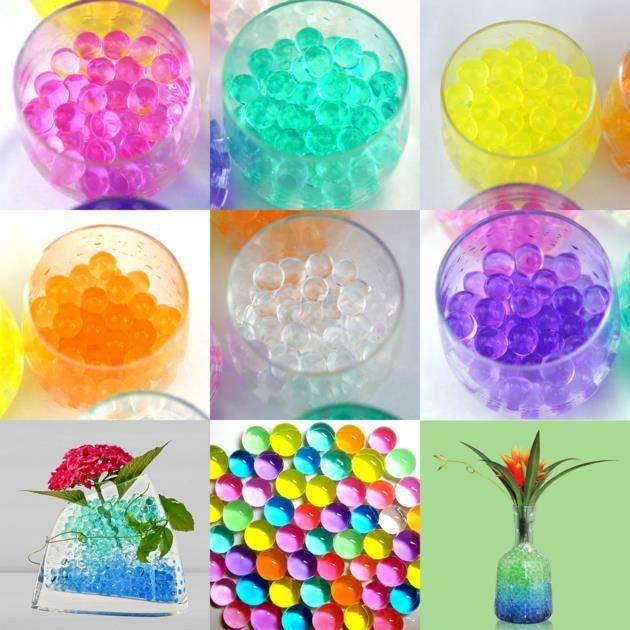 24 sachets billes d 39 eau hydrogel d co mariage dbe1 achat for Perle d eau decoration florale