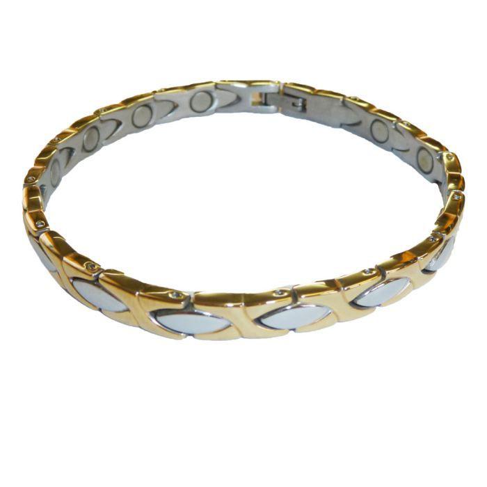 Bracelet magn tique acier chataigner achat vente - Bracelet magnetique avis ...
