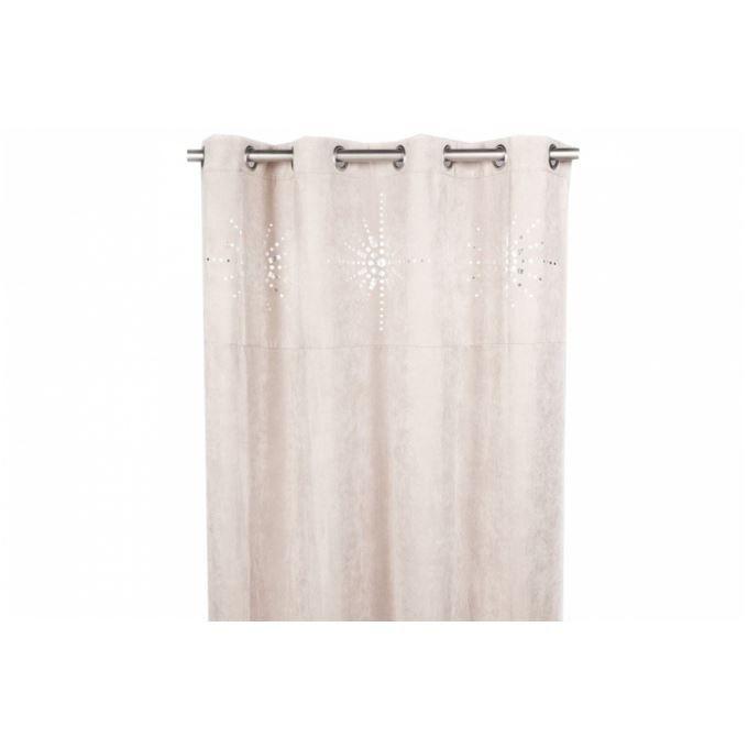 rideau oeillet japonais gris 140x260 cm achat vente rideau voilage rideau oeillet. Black Bedroom Furniture Sets. Home Design Ideas