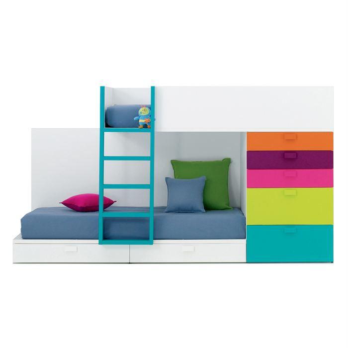 lit enfant jumeau lit javier avec commode gauche achat vente lit complet lit enfant jumeau. Black Bedroom Furniture Sets. Home Design Ideas