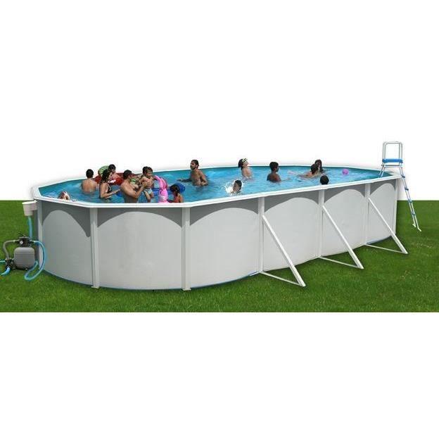 Piscine acier ovale 915x457x120 cm achat vente kit for Achat piscine acier