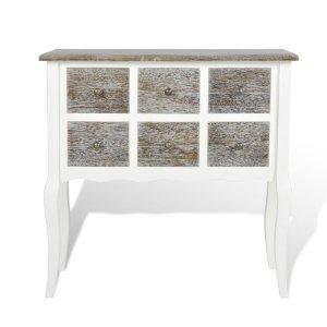 Lit console armoire en bois blanc avec 6 tiroirs achat vente ensemble lit - Console blanc laque avec tiroir ...