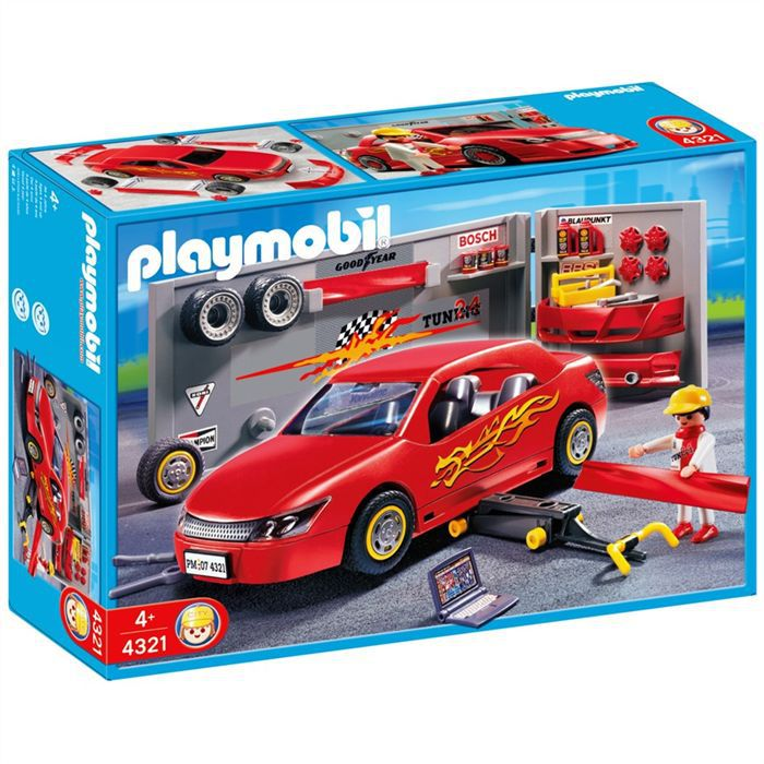 playmobil 4321 voiture atelier tunning achat vente univers miniature cdiscount. Black Bedroom Furniture Sets. Home Design Ideas