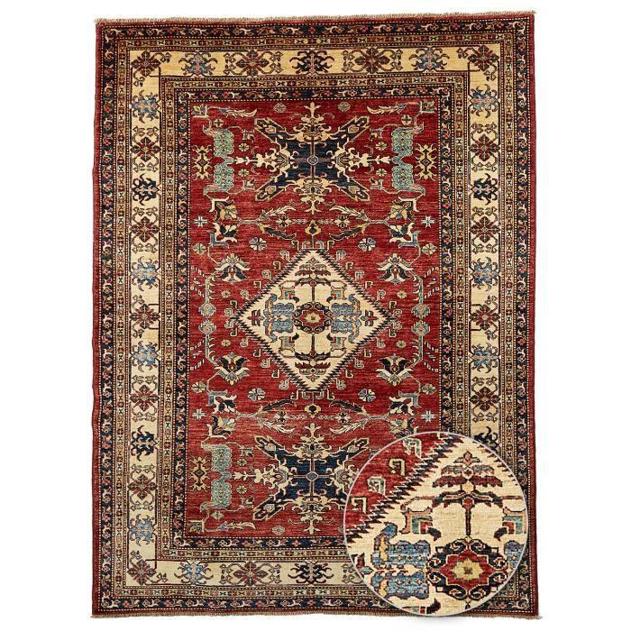 tapis d 39 orient nou main kazak 47 teinture veg achat vente tapis cdiscount. Black Bedroom Furniture Sets. Home Design Ideas