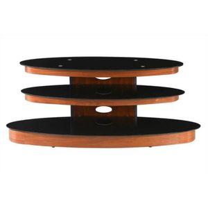Meuble tv noir ou marron achat vente meuble tv noir ou for Meuble zanon