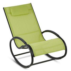 Fauteuil Rocking Chair De Jardin Achat Vente Fauteuil