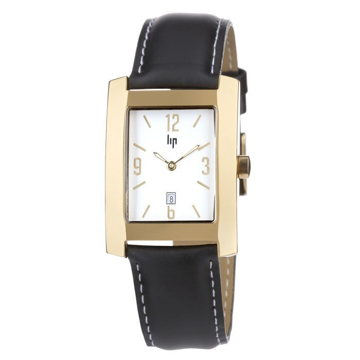 lip montre homme noir classique laiton achat vente montre bracelet. Black Bedroom Furniture Sets. Home Design Ideas