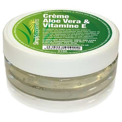 Crème Aloe Vera et Vitamine E | 100ml - Achat / Vente