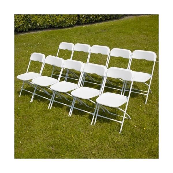 Lot de 6 chaises pliantes achat vente salon de jardin for Ensemble table et chaise 8 personnes