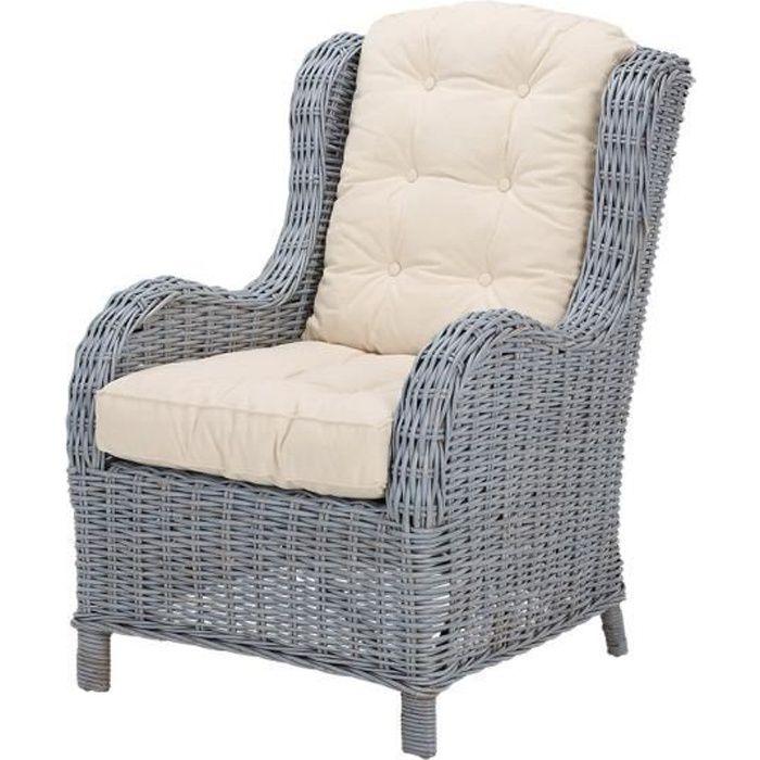 Fauteuil jack kubu couleur gris et coussin achat - Fauteuil design scandinave pas cher ...