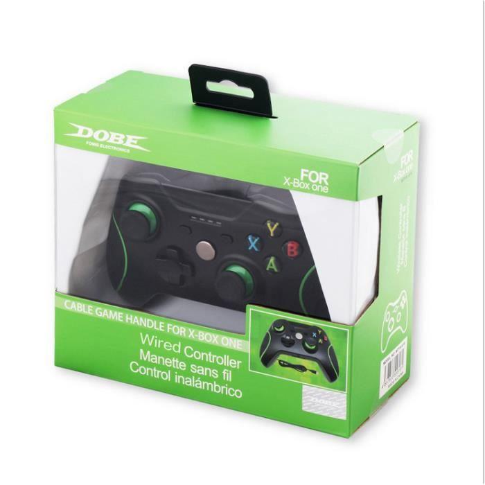 nouveau contr leur de jeux vid o filaire pour microsoft xbox one console joystick noir prix. Black Bedroom Furniture Sets. Home Design Ideas