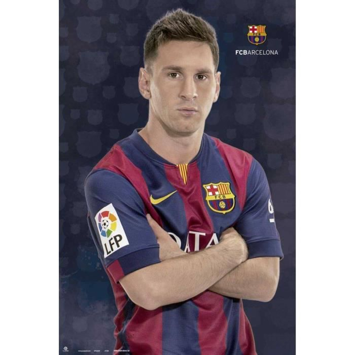 poster lionel messi fc barcelone achat vente affiche cdiscount. Black Bedroom Furniture Sets. Home Design Ideas