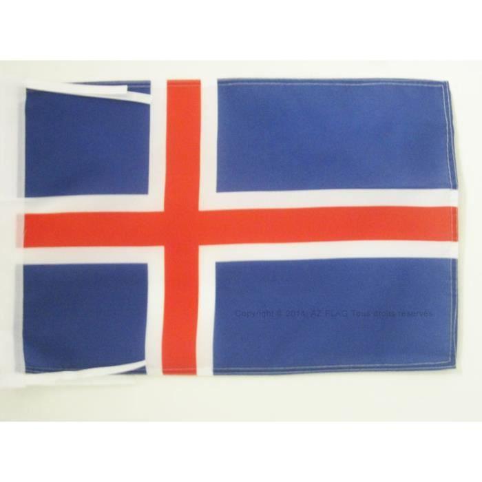 Drapeau islande 45x30cm islandais haute qualit achat for Linge de maison haute qualite