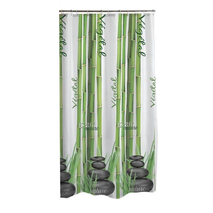 Rideau de douche 180x200cm bambous achat vente rideau - Dimension rideau de douche ...