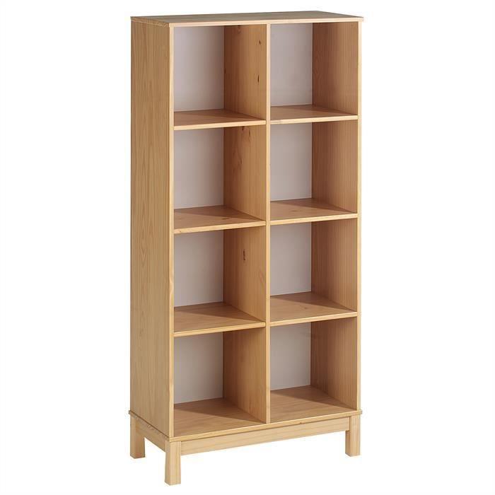 etag re 2 x 4 casiers pin massif couleur h tre achat vente meuble tag re etag re 2 x 4. Black Bedroom Furniture Sets. Home Design Ideas