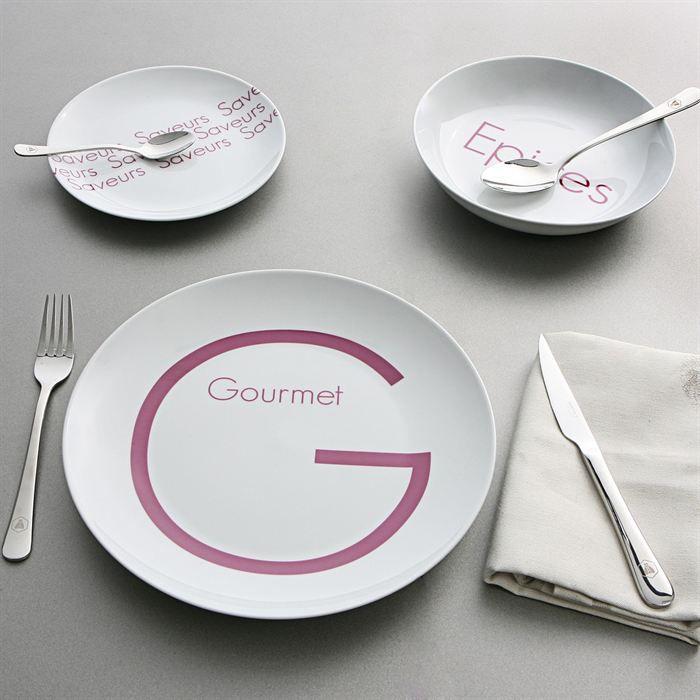 Myk service de table 18 pi ces gourmet achat vente - Service de table complet 72 pieces ...