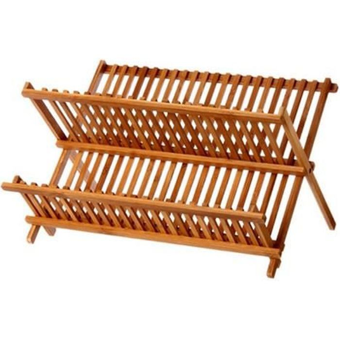 Egouttoir a vaisselle bambou pliable 34 assiettes achat vente egouttoir couverts - Maison maligne ...