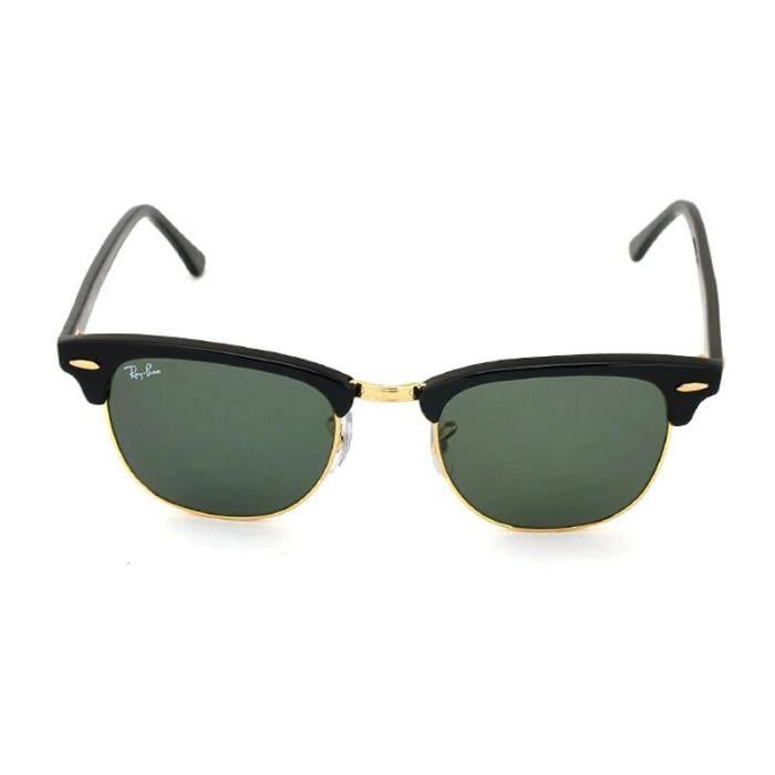 51mm ray ban clubmaster lunettes de soleil rb3016 w0365 achat vente lunettes de soleil mixte. Black Bedroom Furniture Sets. Home Design Ideas