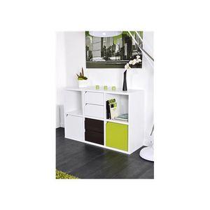 Meuble de rangement 6 cases blanc achat vente meuble for Meuble 6 cases blanc