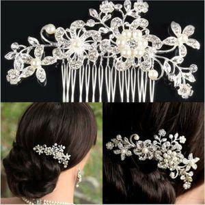 brosse peigne la pince cheveux peigne fleurs strass mariage d - Epingle Cheveux Mariage