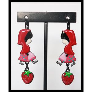 Boucle d'oreille Boucles d oreilles BIJOUX LOL chaperon rouge rose