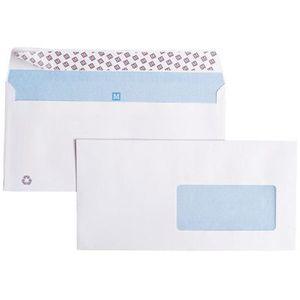 Enveloppe blanche DL 110x220 fenêtre 45 - x500