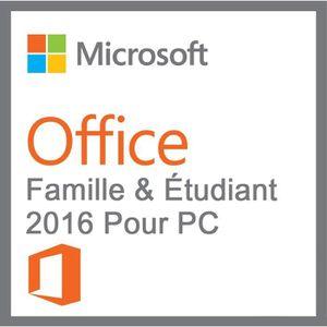 LOGICIEL À TÉLÉCHARGER Office Famille et Étudiant 2016 / Livraison en 1H