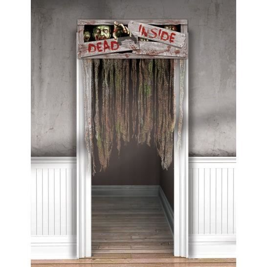 rideau de porte zombie halloween achat vente d co de f te murale cdiscount. Black Bedroom Furniture Sets. Home Design Ideas