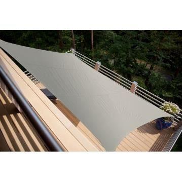 voile d ombrage carr e grise 3 m x 3m gris achat vente parasol ombrage voile d. Black Bedroom Furniture Sets. Home Design Ideas