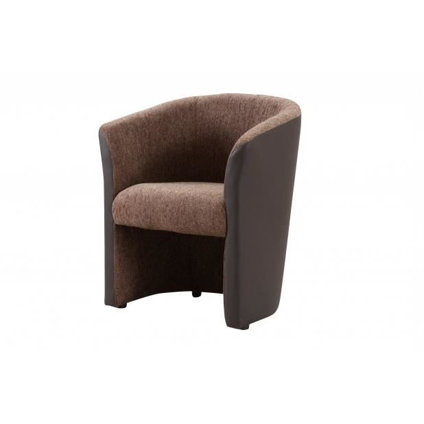 Fauteuil cabriolet hane brown pvc choco achat vente fauteuil marron cdi - Fauteuil cabriolet marron ...