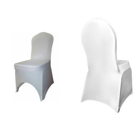 Housse de chaise blanche en lycra spandex x1 achat - Housse de chaise spandex ...