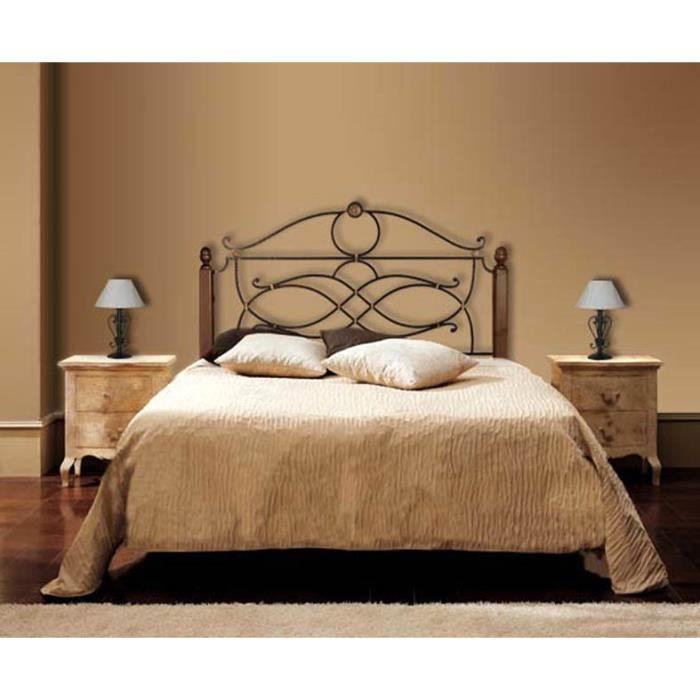 t tes de lit en fer forg et bois mod le consuelo t te. Black Bedroom Furniture Sets. Home Design Ideas