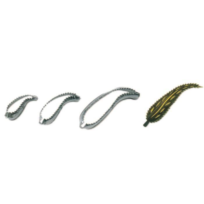 Jeu de 3 longues feuilles courbees inox cuisine autour for Feuille inox cuisine