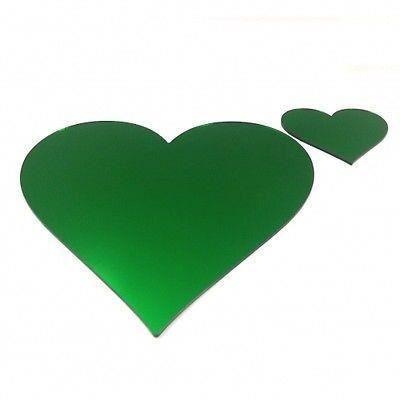 4 vert miroir napperons de coeur et sous verres achat for Miroir 40x150