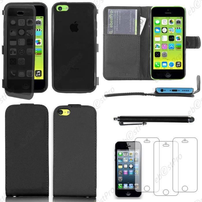 Ebeststar pack 7 accessoires housse portefeuille silicone for Housse silicone iphone 7