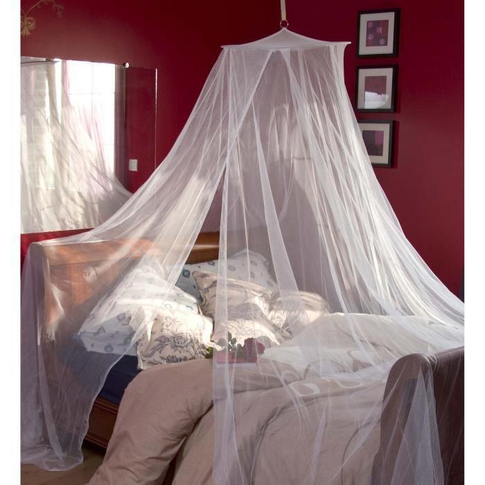 moustiquaire lit 2 personnes h220x 12 5 blanc achat. Black Bedroom Furniture Sets. Home Design Ideas