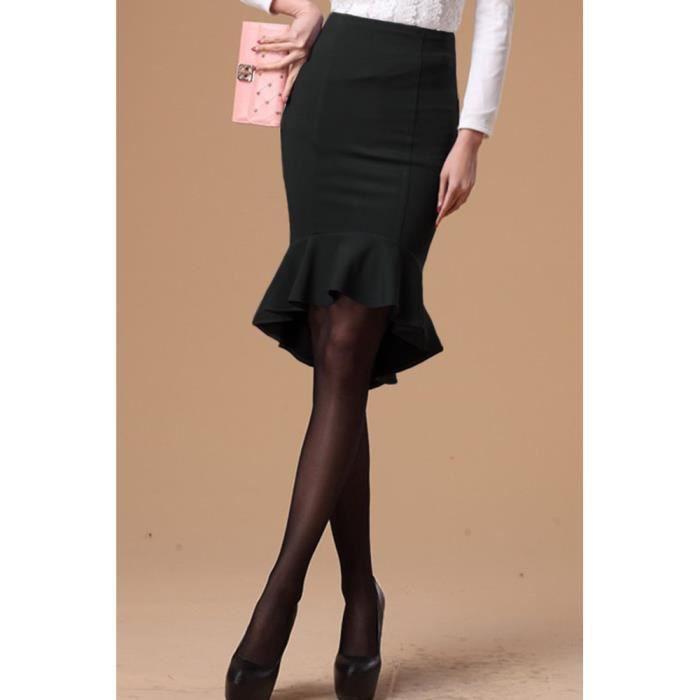 jupe noire l gante pour tailleur gothique chic noir. Black Bedroom Furniture Sets. Home Design Ideas