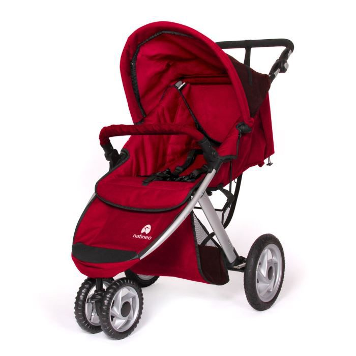 Poussette 3 roues nimeo rouge achat vente poussette poussette 3 roues nimeo rouge cdiscount - Poussette canne dossier inclinable ...