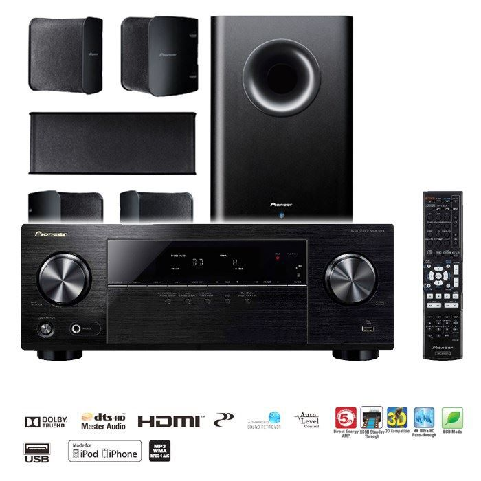 pioneer htp 323 amplificateur 5 1 enceintes achat. Black Bedroom Furniture Sets. Home Design Ideas