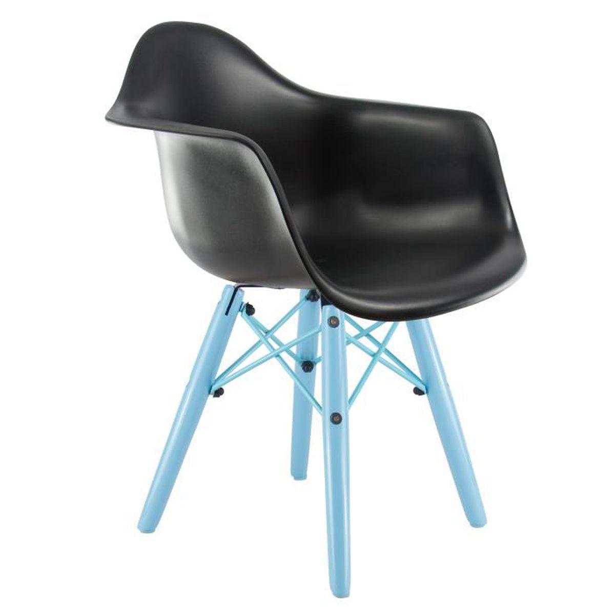 chaise privee chaise enfant daw color e noir bleu achat vente chaise cdiscount. Black Bedroom Furniture Sets. Home Design Ideas