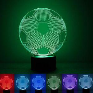 LAMPE A POSER Cadeau pour les enfants 3D Vision Football LED 7 c