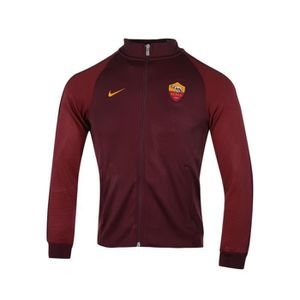 VESTE DE SPORT Veste Zip Authentic N98 AS Roma Rouge Junior