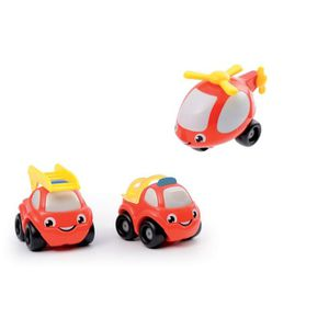 VOITURE - CAMION VROOM PLANET 3 Mini Bolides Pompiers