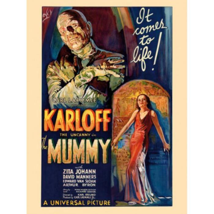 La momie poster reproduction sur toile tendue sur ch ssis for Poster sur toile