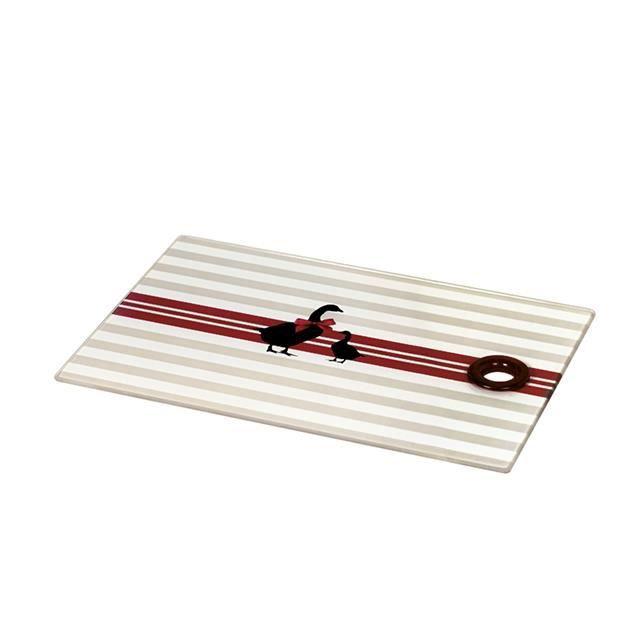 planche d ouper en verre tremp d cor canard achat vente planche a d couper planche. Black Bedroom Furniture Sets. Home Design Ideas