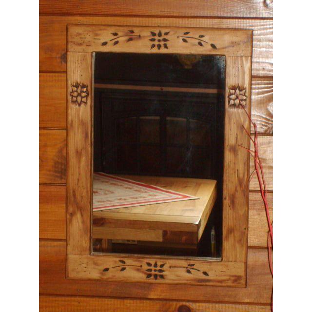 Miroir bois deco scandinave et ambiance chalet achat for Miroir deco bois